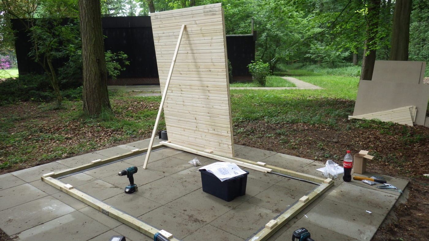 Einfaches Fundament für kleines Gerätehaus