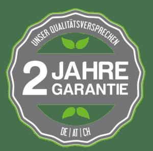 Qualitätssiegel Gartenhaus Aufbau 2 Jahre Garantie