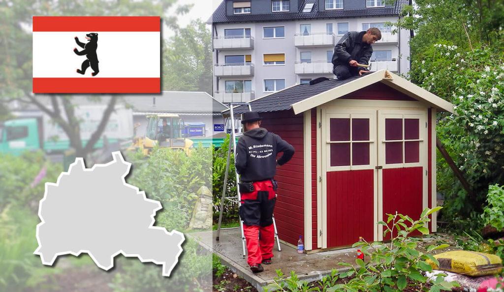 Unser Gartenhaus-Aufbauservice und Carport-Montageservice ist auch in Berlin für Sie tätig!