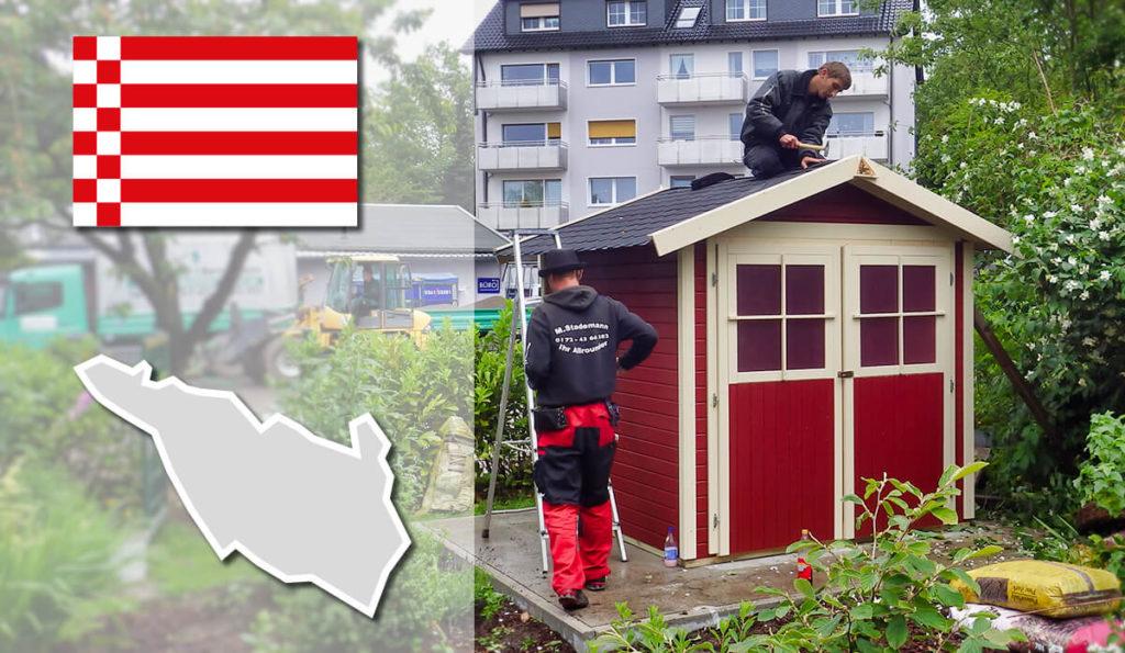 Unser Gartenhaus-Aufbauservice und Carport-Montageservice ist auch in Bremen für Sie tätig!