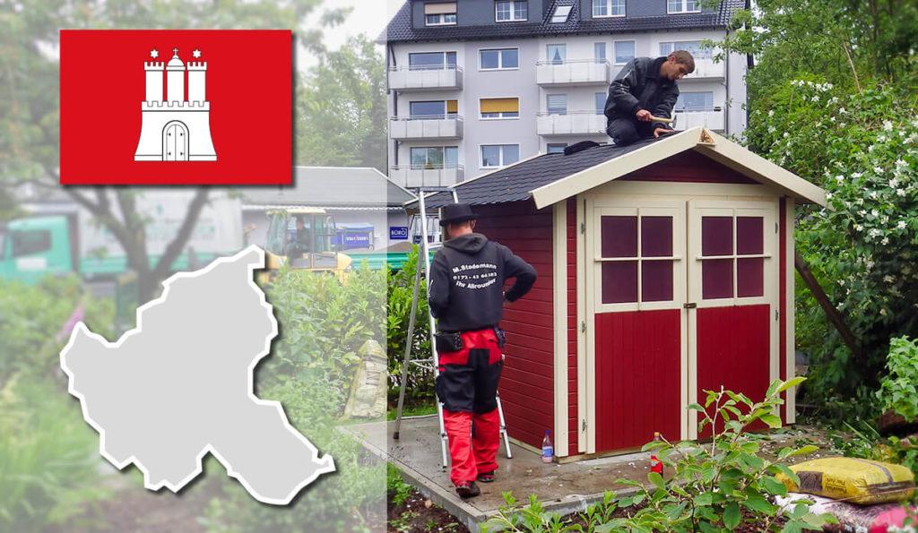 Unser Gartenhaus-Aufbauservice und Carport-Montageservice ist auch in Hamburg für Sie tätig!
