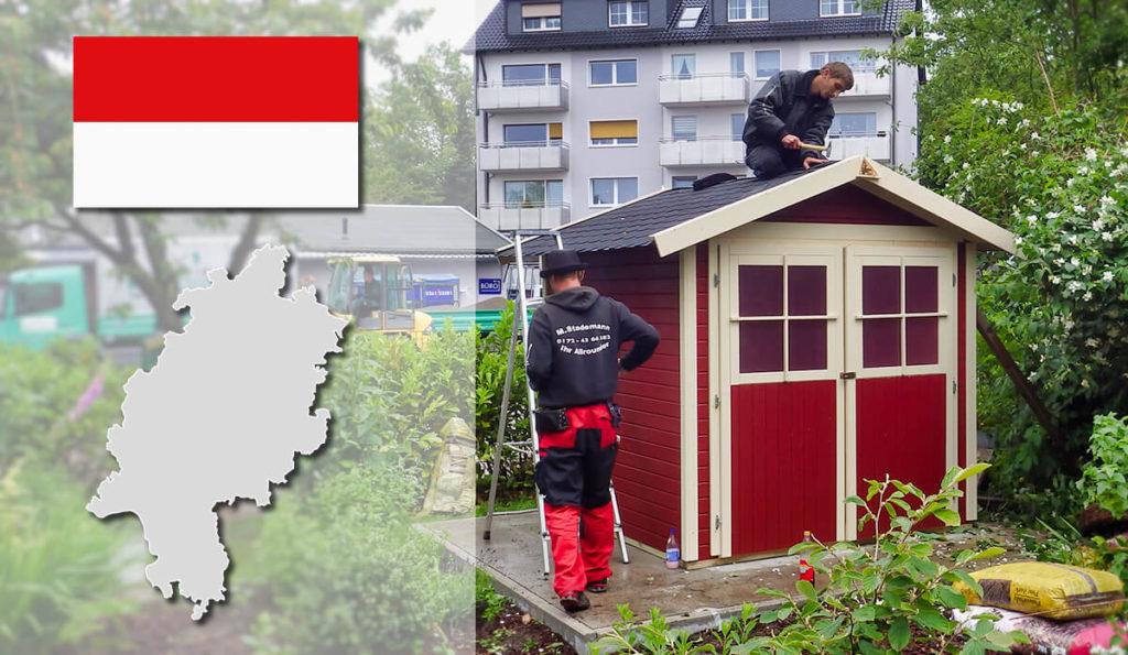Unser Gartenhaus-Aufbauservice und Carport-Montageservice ist auch in Hessen für Sie tätig!