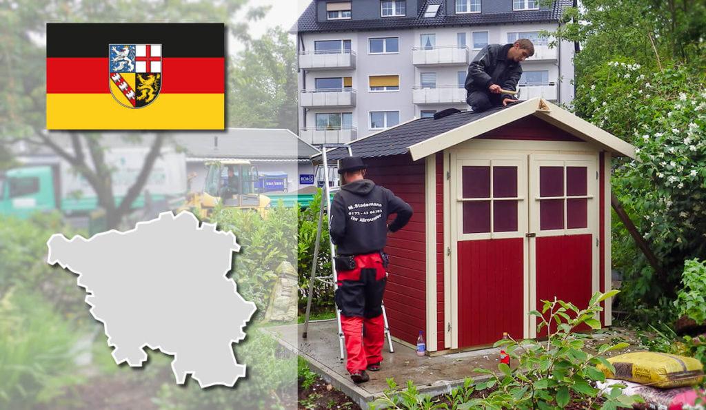 Unser Gartenhaus-Aufbauservice und Carport-Montageservice ist auch in Saarland für Sie tätig!
