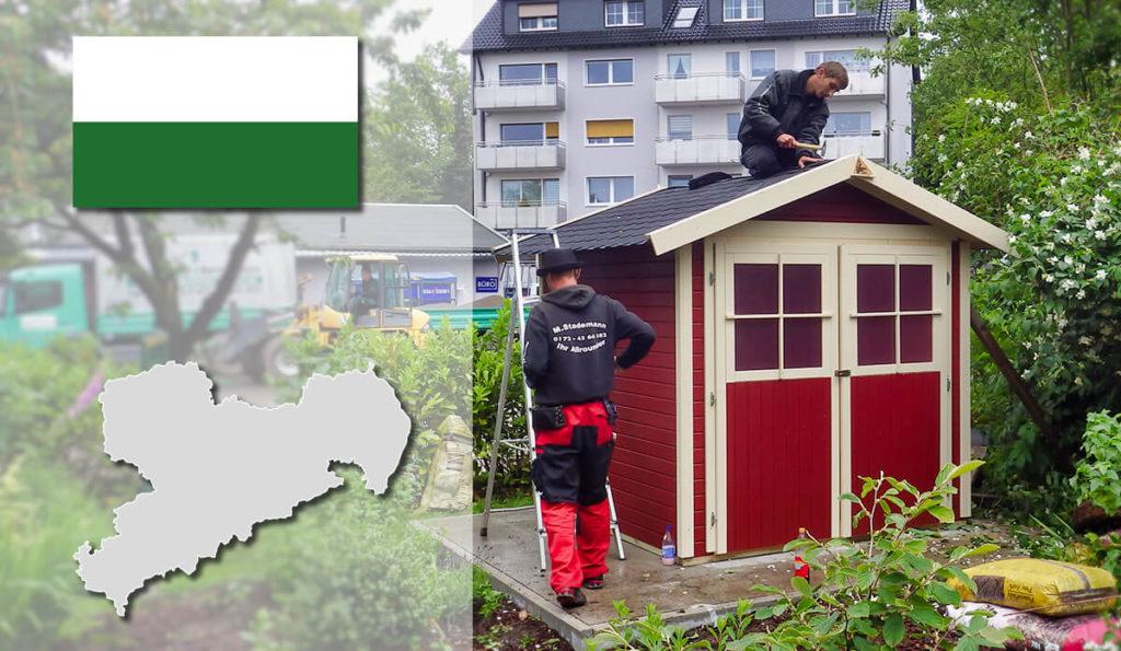 Unser Gartenhaus-Aufbauservice und Carport-Montageservice ist auch in Sachsen für Sie tätig!