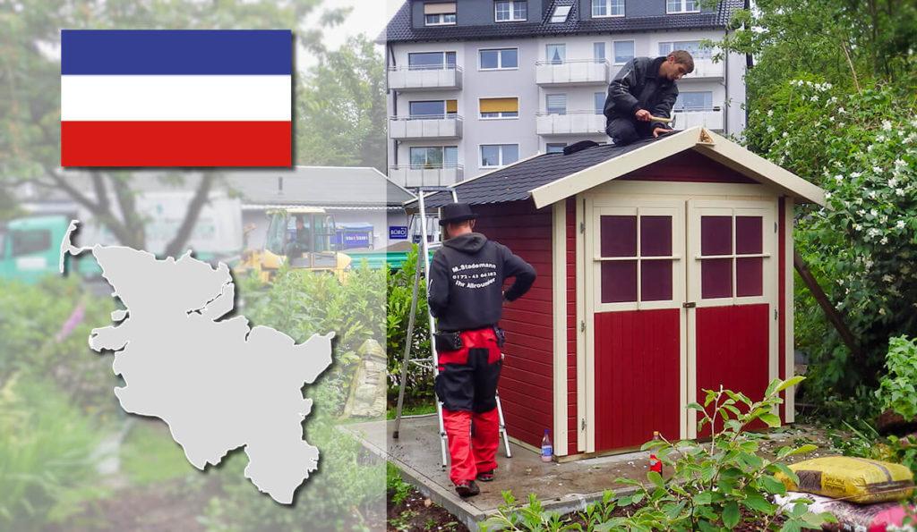 Unser Gartenhaus-Aufbauservice und Carport-Montageservice ist auch in Schleswig-Holstein für Sie tätig!