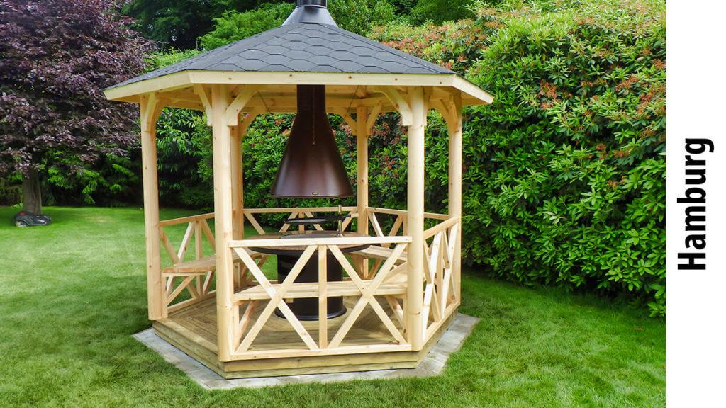 Neben Gartenhäusern und Carports bieten wir auch den Aufbau von Grillpavillons in Ihrer Nähe an.