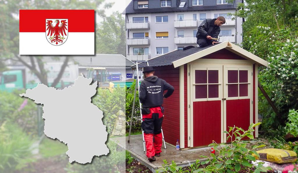 Unser Gartenhaus-Aufbauservice und Carport-Montageservice ist auch in Brandenburg für Sie tätig!
