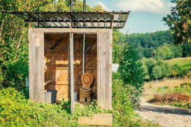 Gartentoilette ohne Wasseranschluss